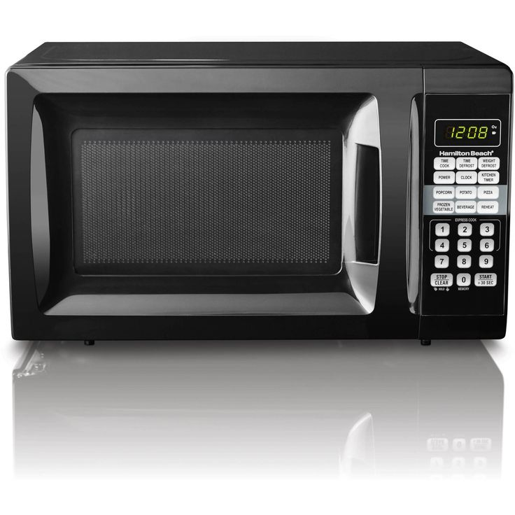 Small Compact College Dorm Room Campus 0.7 cu ft Microwave Oven Appliance Only 10 In Stock Order Today! Product Description: Hamilton Beach 0.7 cu ft Microwave Oven, Black:10 power levels6 quick-set m