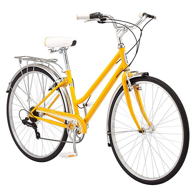 Amazon Com Schwinn Wayfarer Hybrid 700c Wheel Bicycle Mango 16 Small Sports Outdoors Hybrid Bike Hybrid Bicycle Comfort Bike