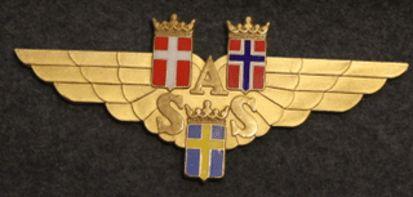 SAS, Scandinavian airlines, kilpi / liikekyltti.
