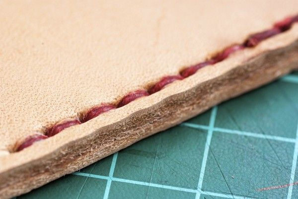 How to hand sew thick leather - handmade, custom & one-off leatherwork products made in Australia - High on Glue