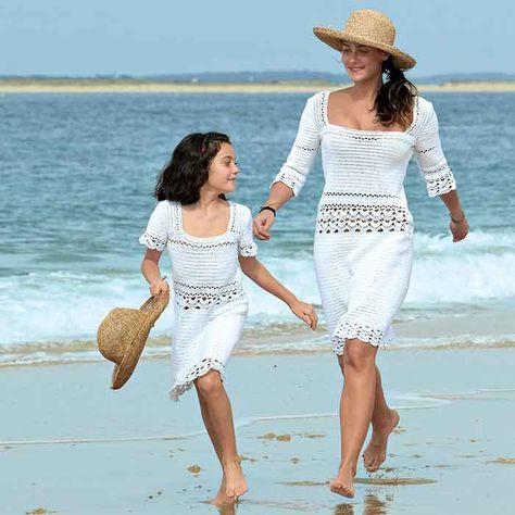 Une robe en crochet pour mère et fille