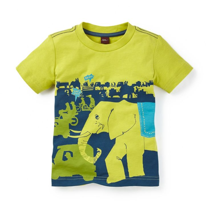Love this Indian street scene, complete with elephants! From Tea Collection, sizes 2-12.