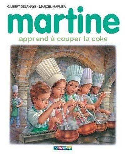 Martine apprend à couper la coke