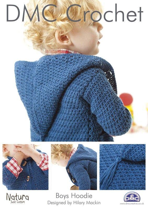 free crochet patterns for boys | Boys Hoodie Crochet Pattern 14890L-2 - Readicut Crafts Online