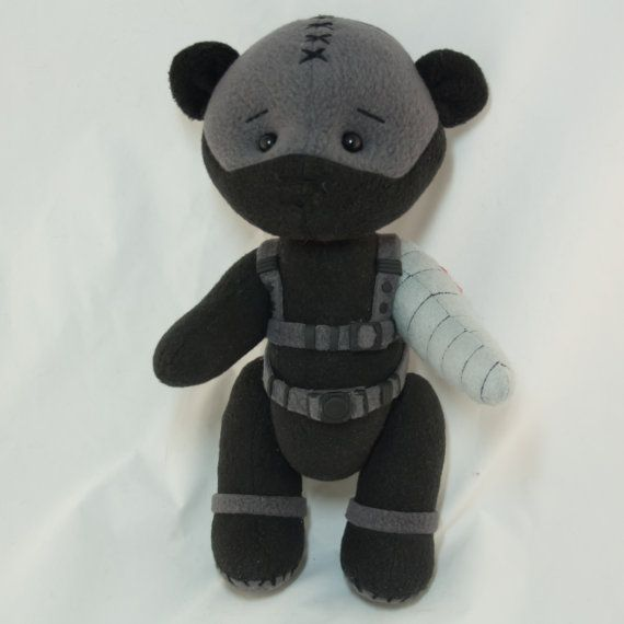 Bucky Winter Soldier bear by MamaKarloShop on Etsy