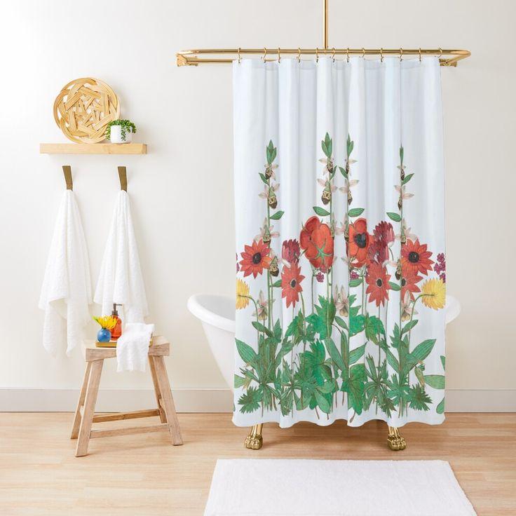 flower shower curtain society6