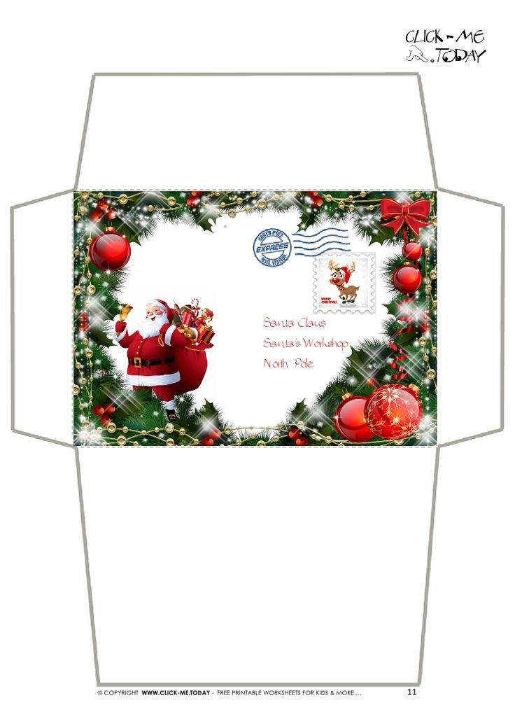 Craft envelope - Letter to Santa Claus -Christmas ...