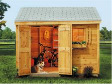 Sheds USA wooden storage sheds with pine, cedar, vinyl and Smart siding.