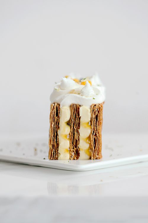 Passionfruit, Coconut and Ginger Mille Feuille | Natalie.e, July 2014