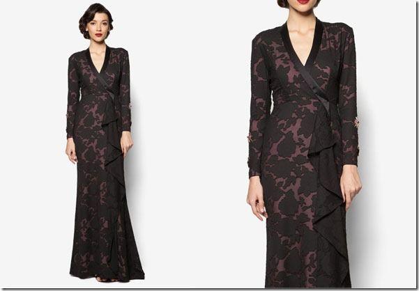 Princessy Maxi Dress Ideas For Raya 2016 / sleek-black-abstract-maxi-dress