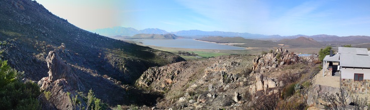 Panoramic of Klipbokkop near Worcester, South Africa