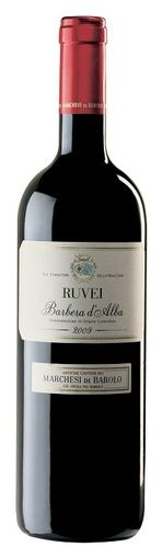 In stock - 14,45 € 2011 Marchesi di Barolo Ruvei Barbera d´Alba, red dry , Italy - 88pt Barbera of light garnet colour and brown rim and brick shade. Delicate aroma of sweet plums is enriched by herbal tones, pepper, with slight hint of cedar wood. Full, rounded, warm, balanced aroma with fuller, matured tanstuffs and hint of marmelade. Ending of the wine is longer, velver and you can surely leave this wine archivated for a longer while.