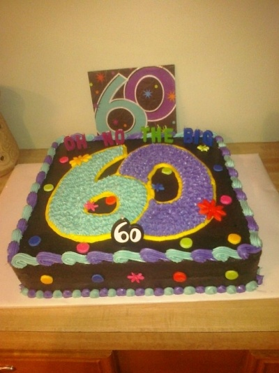60th birthday cake By bethjm21 on CakeCentral.com