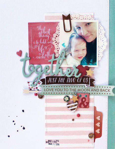 #papercraft #scrapbook #layout. Together by MelBlackburn at @studio_calico