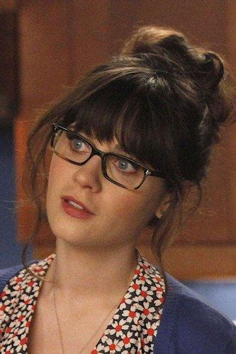 Zoey Deschanel in her Oliver peoples glasses