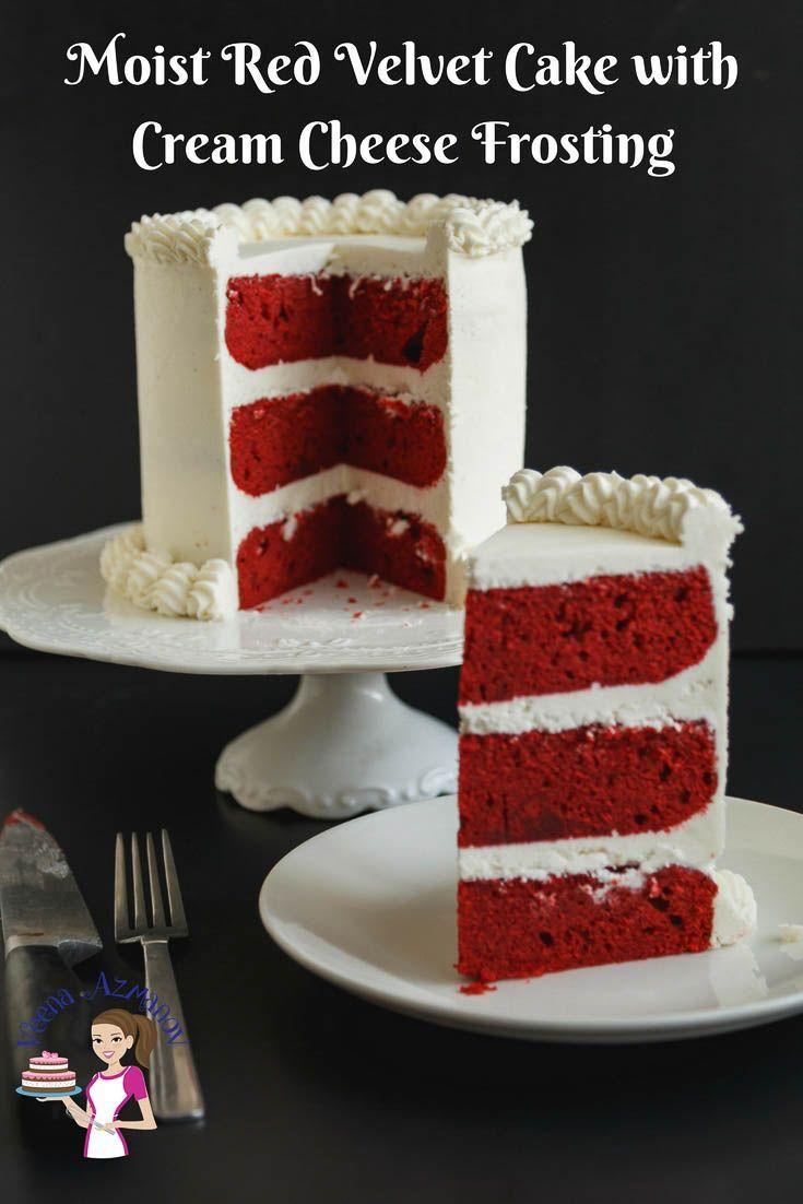 This Red Velvet Cake Has A Classic Sponge Texture That S Light And Airy Moist Cake With A Velvet Cake Recipes Red Velvet Cake Recipe Homemade Fondant Recipes