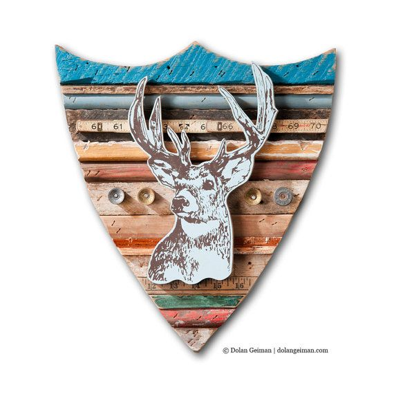 Deer Wall Sculpture Trophy Deer Collection Faux by dolangeiman, $250.00