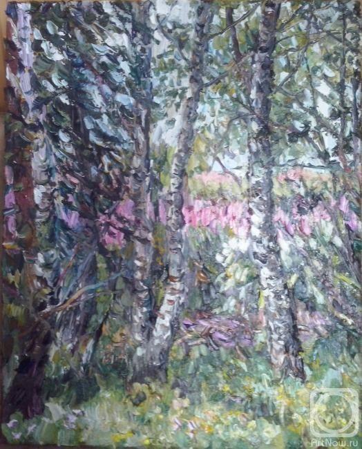 Ягужинская Анна. Пейзаж с берёзами