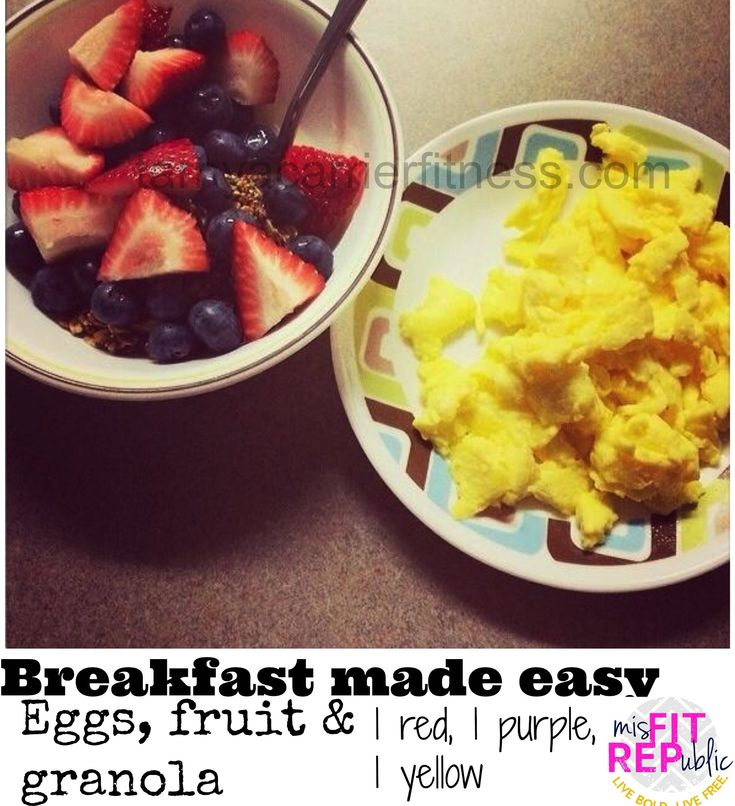 Yes, easy!!!  Eggs, Fruit, & Granola-21 Day Fix Approved