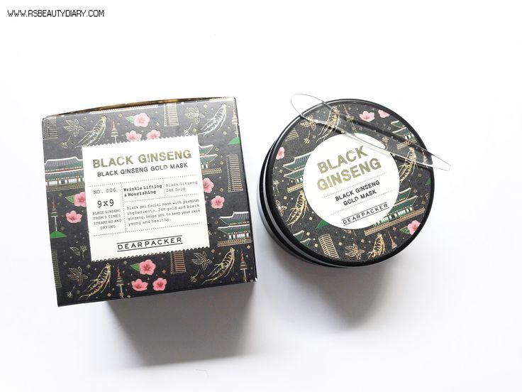 REVIEW: DearPacker Black Ginseng Gold Mask - R's Beauty Diary ♥