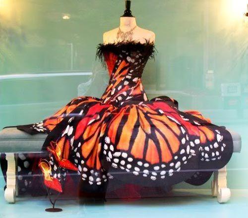prom butterfly dress