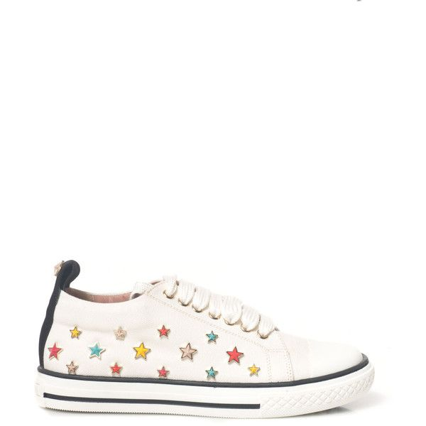 Red Valentino Sneakers with laces ($185) ❤ liked on Polyvore featuring shoes, sneakers, bianco, red valentino shoes, red valentino sneakers and red valentino