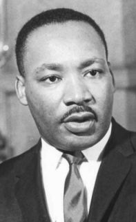 Martin Luther King Jr (01/15/29 - 04/04/68): Baptist Minister, activist and prominent leader of the Civil Rights Movement