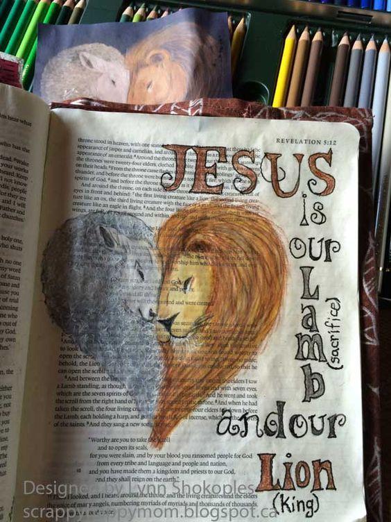 Revelation Bible Journal Page by Lynn Shokoples