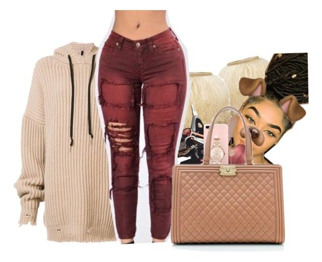 """#90: Fall for 'em..."" by chilly-gvbx ❤ liked on Polyvore featuring Unravel, UGG Australia, Michael Kors and Chanel"