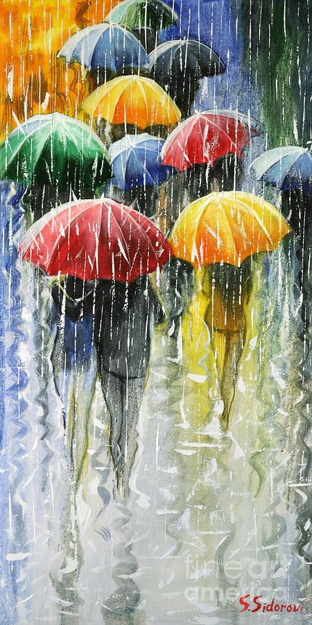 Romantic Umbrellas Painting by Stanislav Sidorov - Romantic Umbrellas Fine Art Prints and Posters for Sale