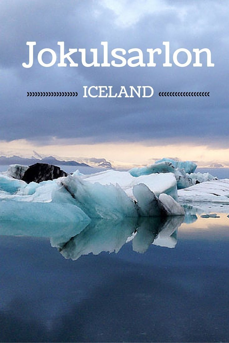Travel Guide Iceland : Plan your visit to Jokulsarlon, the most famous glacier lagoon with its many huge icebergs floating towards the sea - many photos in the post