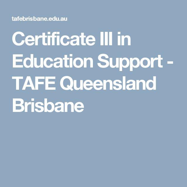 Certificate III in Education Support - TAFE Queensland Brisbane