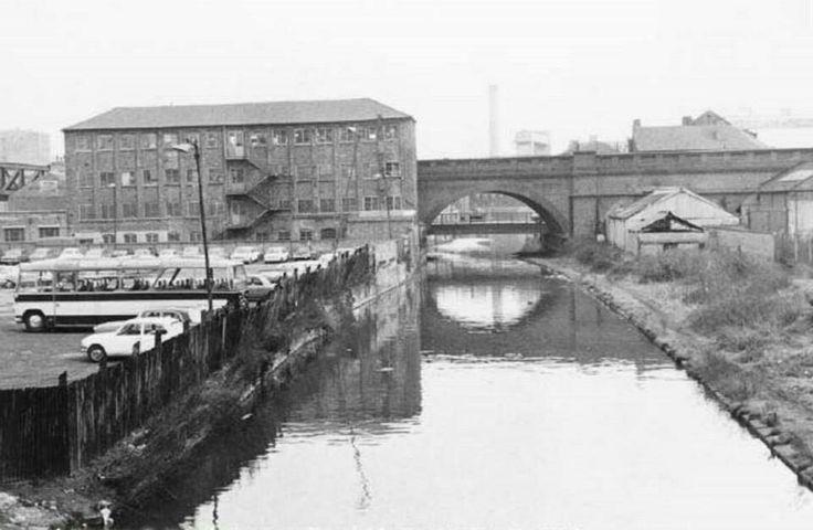Nottingham Canal from Carrington Street, 1969