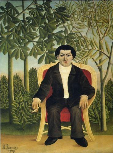 Portrait of Joseph Brummer  - Henri Rousseau, 1909.  Art Experience NYC  www.artexperiencenyc.com/social_login/?utm_source=pinterest_medium=pins_content=pinterest_pins_campaign=pinterest_initial