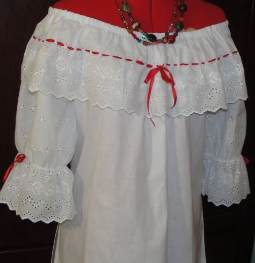 creole blouse