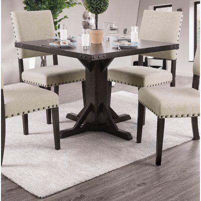 Gracie Oaks Sarahi Dining Table Solid Wood Dining Set Dining Table Round Extendable Dining Table