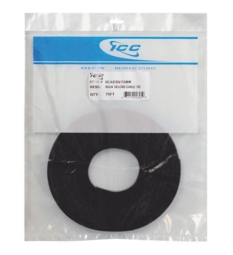 Velcro Tie Bulk 75ft - Black
