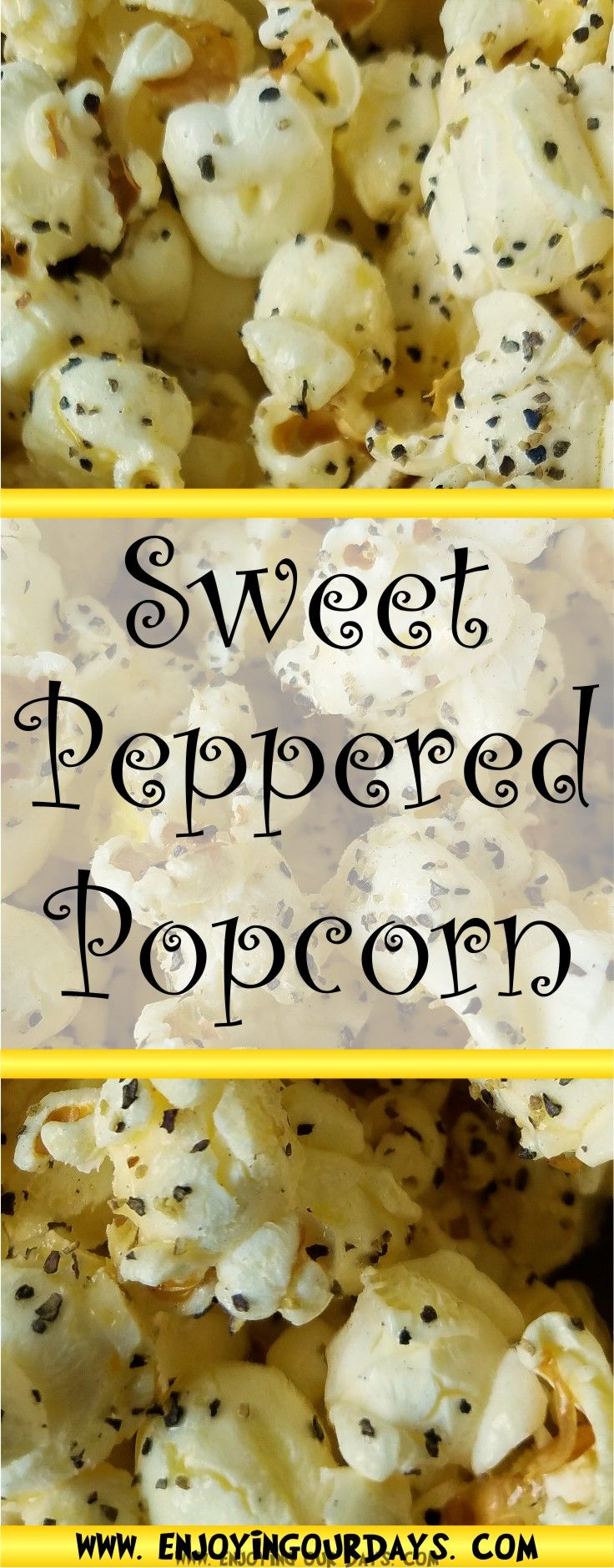 Sweet peppered popcorn for family night! It's a frugal recipe to add to your family fun! via @jenniferspears9