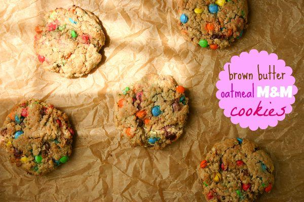 Bakergirl: Brown Butter Oatmeal M Cookies.