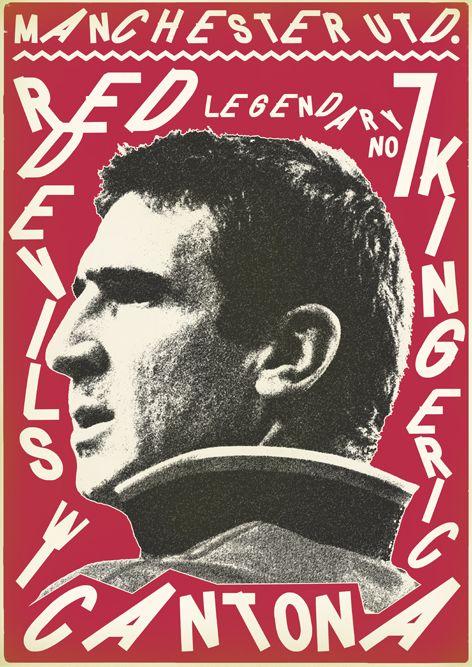 Sucker for Soccer by Zoran Lucić, via Behance. Eric Cantona. Manchester United. #mufc