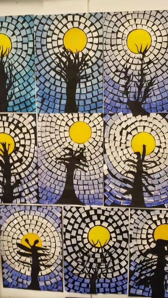 Onderwijs en zo voort ........: 0805. Wintercrea : mozaiek lucht.