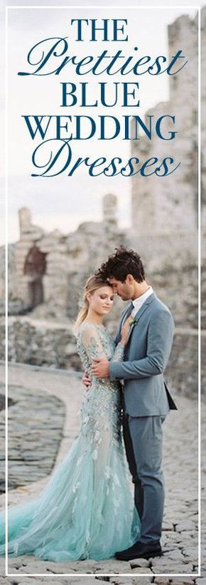 The Prettiest Blue Wedding Dresses