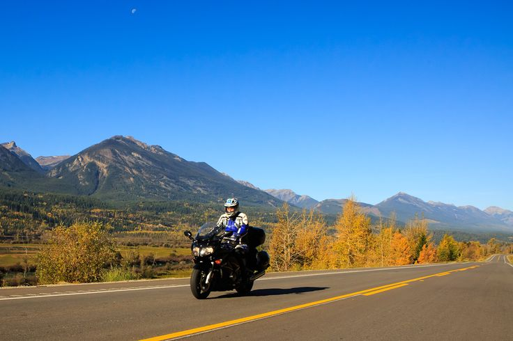 Enjoy a relaxing motorcycle ride through the rockies in Golden, BC.