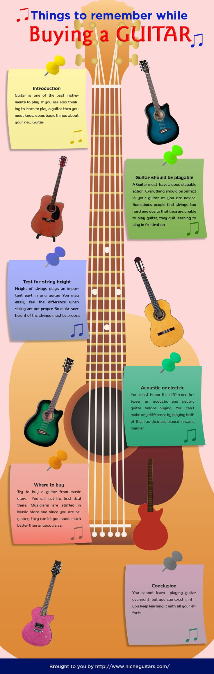 things-to-remember-while-buying-a-guitar-infographic.  Just come to Music Mart in Solana Beach, CA - we have the best Acoustic & Electric, and we even have a great on-site guitar instructor :)
