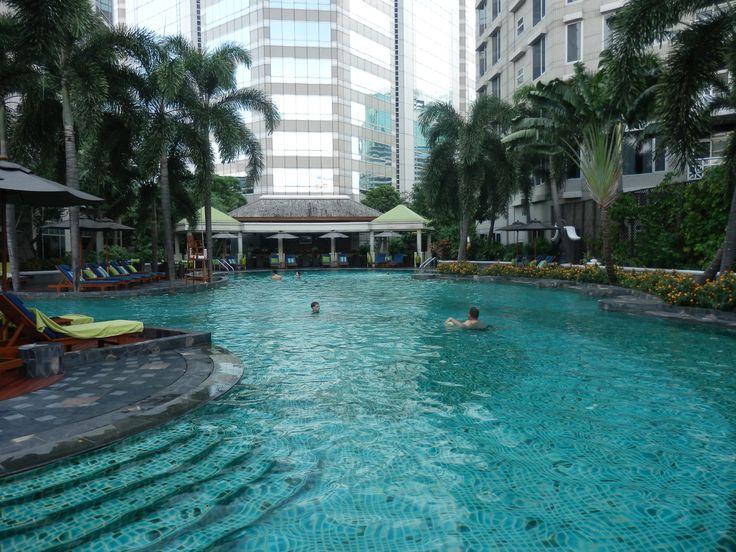 Swimming Pool at the Conrad Bangkok Hotel, Thailand