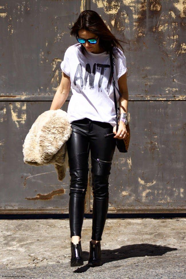 HendayeStyle: leather patns #kissmylook