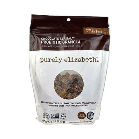 """$8BUY NOW """"As much of a health nut as I may be, my weaknesses are chocolate and carbs. Enter Purely Elizabeth granola, which allows me to savor the best of both worlds. On average, granola will cost you at least 130 calories for one fourth of a cup with an over abundance of carbs and sugars, but Purely Elizabeth boasts 130 calories for one third of a cup — which doesn't sound like much of a difference in print, but it's huge — with only 18 grams of carbs and 6 sugars per serving. This p..."""