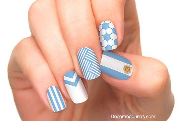 Uñas pintadas del mundial 2014 – 40 fotos #Brasil2014 Mundial Brasil 2014