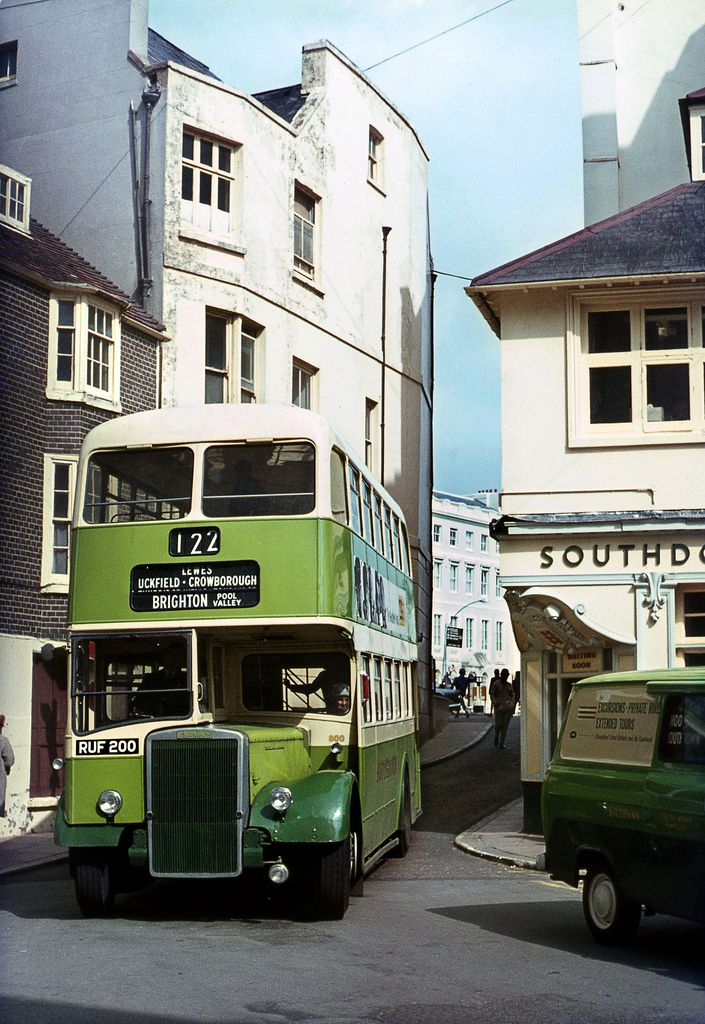 Southdown Leyland No.800 arriving at Pool Valley,Brighton 1967 | Flickr - Photo Sharing!