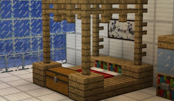 Attractive That Would Be Cool If That Was Real But Not As Minecrafty. Minecraft  FurnitureMinecraft BedroomMinecraft ...